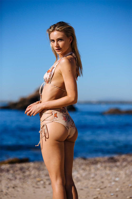 P & J 2018 Baru Bikini Wanita Pakaian Renang Pinggang Tinggi Pakaian Plus Ukuran Baju Renang Push Up Bikini Set Vintage retro Pantai