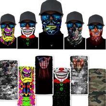 3D бесшовный Балаклава волшебный шарф маска для лица и шеи Призрак Череп Скелет бандана щит Повязка На Голову Бандана для мужчин велосипед