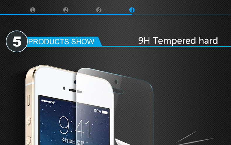 CHYI for iphone 5s glass 9h hardness full coverage explosion-proof tempered glass 5S iphone on glass open the front camera hole 12