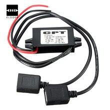 Новое Поступление DC DC Преобразователь Модуль 12 В До 5 В 3A 15 Вт Duble USB Адаптер Выходная Мощность 4.6 х 2.7 х 1.4 см Integrated схемы
