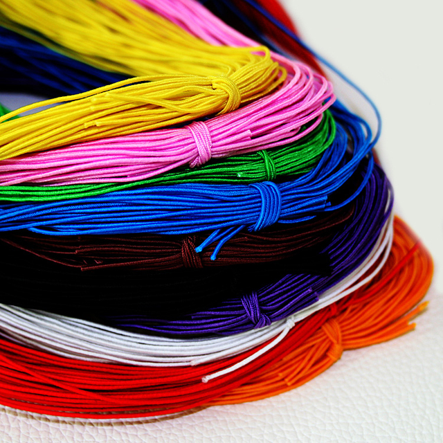 10 Colors Choice 25meters 1mm Beading Elastic Stretch Cord Beads String Strap Rope Bead For