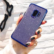 Glitter Bling TPU Phone Cases for Samsung Galaxy S10 S8 S9 Plus A7 A750 A9 A6 A8 J4 J6 J8 2018 Plus J5 J7 Prime J3 A3 A5 2017(China)