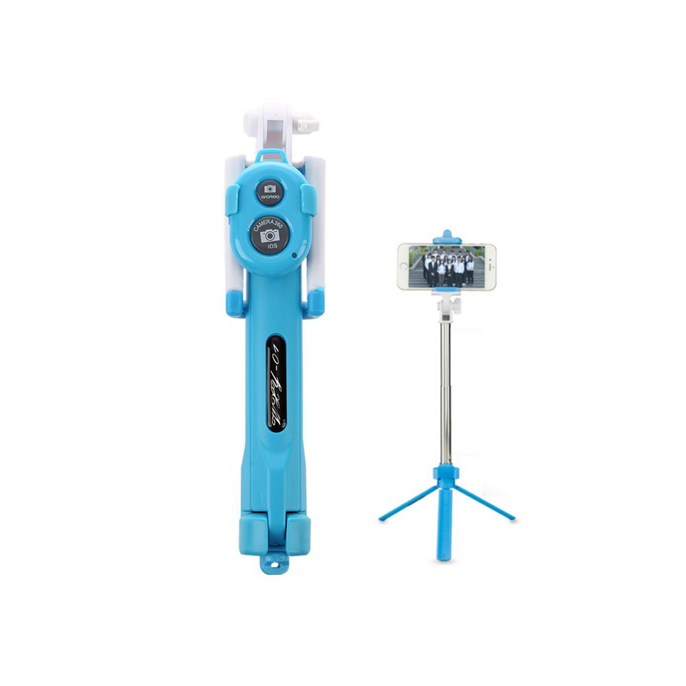 Rise Extendable Handheld Selfie Self Phone Stick Monopod Tripods Bluetooth Remote Shutte ...