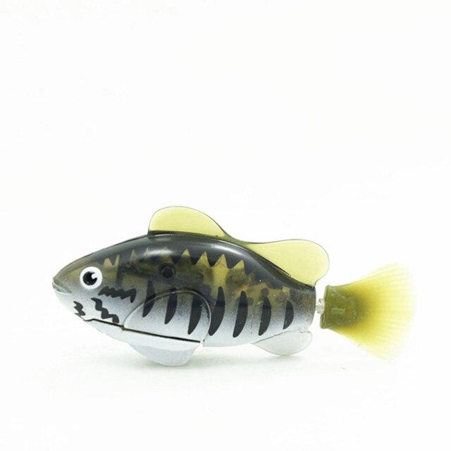 Divertida mascota electrónica de natación activada por batería Robot pez Robot de juguete mascota para tanque de pesca decoración pez regalo para bebé