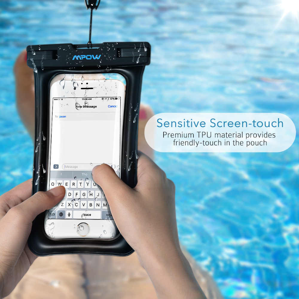 new product a965f 59034 Mpow PA077 Float-able IPX8 Waterproof Case Bag Universal 6 inch Phone Pouch  Swim Take photo Underwater For iPhone Samsung Huawei