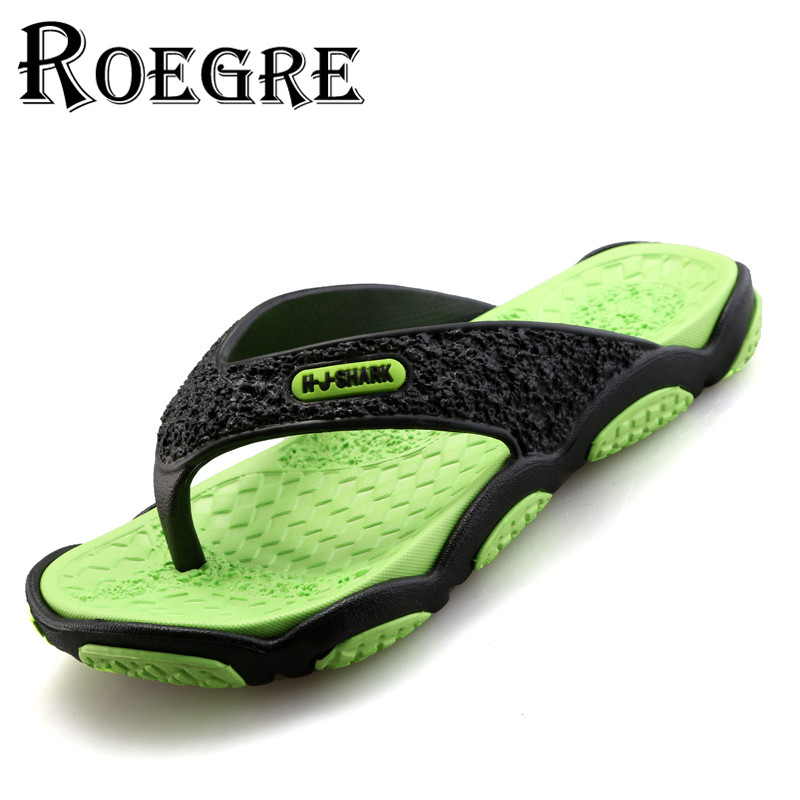 ROEGRE Comfortable Men s Flip Flops Summer Beach Sandals for Men 5 Colors Outdoor Slippers Red