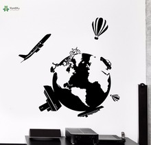 YOYOYU Vinyl Wall Decal Little Earth Travels Around The World Teens Living Room Home Simple Art Decoration Stickers FD117