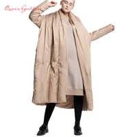 2019 neue design mantel typ verdicken winter weiße ente unten mantel plus größe weibliche lange unten jacke weichen stoff winter sammlung