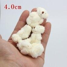10pc 4colors 4 0cm mini Joint Teddy Bear Plush Stuffed Wedding BOX toy doll Garment Hair