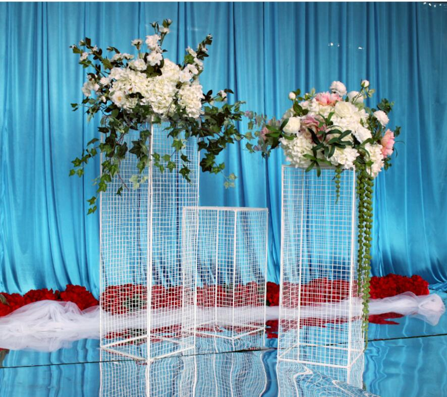 Wedding Flower Pillars: 3pcs A Square Frame For Wedding Flowers & Standing Flower