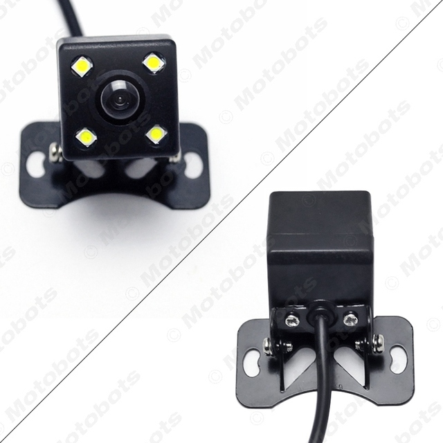 FEELDO 1Set Car 8-Sensor Parking Sensor with 2pcs Night Vision LED Camera Dual Visual Rearview Video Parking Radar System #AM938