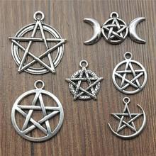10pcs pendenti con ciondoli a forma di stella Color argento antico accessori per gioielli Charms pentagramma per creazione di gioielli cheap Irelia CN (Origine) In Lega di zinco Metallo Annata