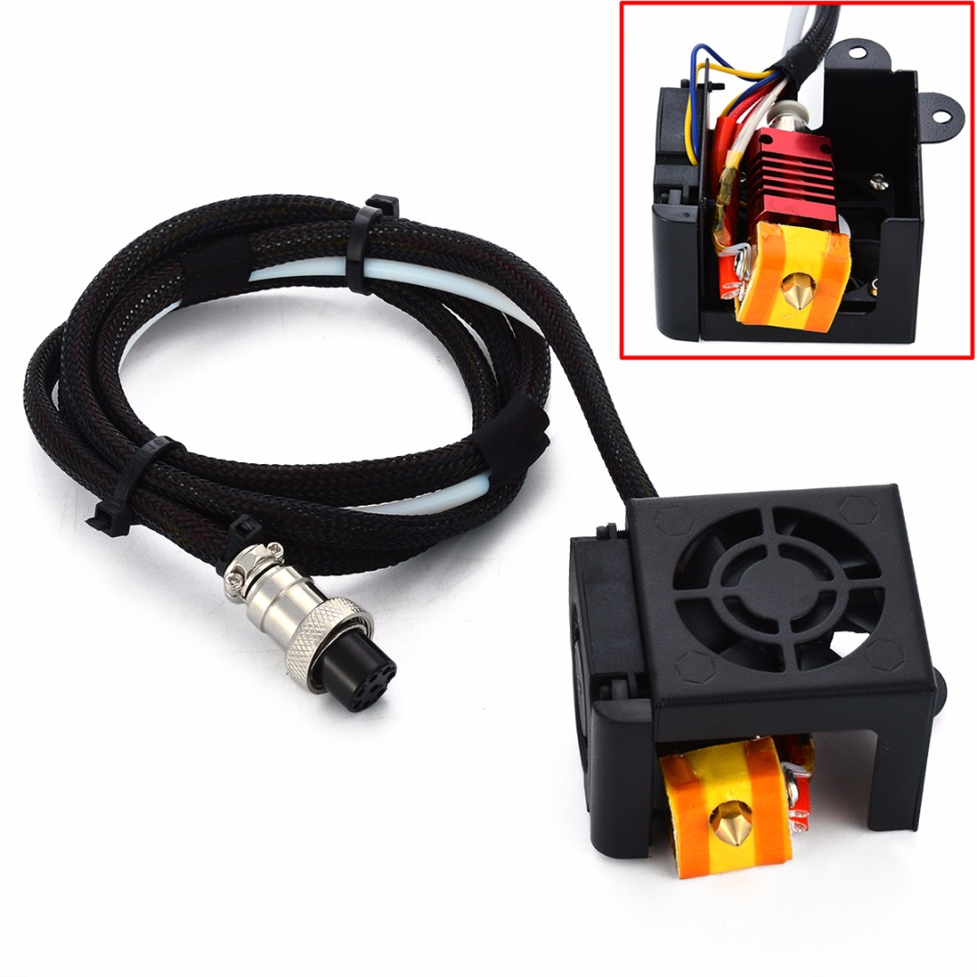 0.4mm Brass Nozzle Extruder Hot End Kits MK8 Extruder With Heating Tube Cooling Fans For CR-10 S/S4/S5 Mayitr 3D Printer Parts 100% salable product cooling mx 4 2g 4g 8g 20g 8 5 w mk top end thermal compound cpu