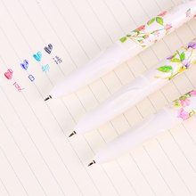 4-color Flower ballpoint pen Cute Kawaii cartoon Ballpoint Pens Ballpen For Office School Writing Supplies Stationery