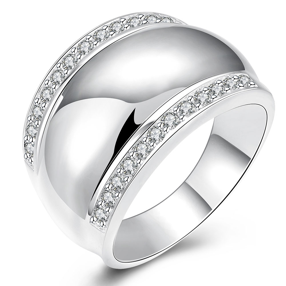 Jeexi Modern 925 Sterling Silver Rings For Women Man Invisible Setting Cz  Crystal Aaaa Wedding Engagement Ring Jewelry