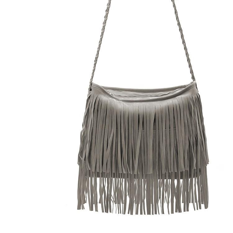 Fashion PU Leather Handbag Tassel bags Vintage Bucket Women Shoulder bag Small Ladies messenger bags Tote bolsa 2015 BH249 (3)