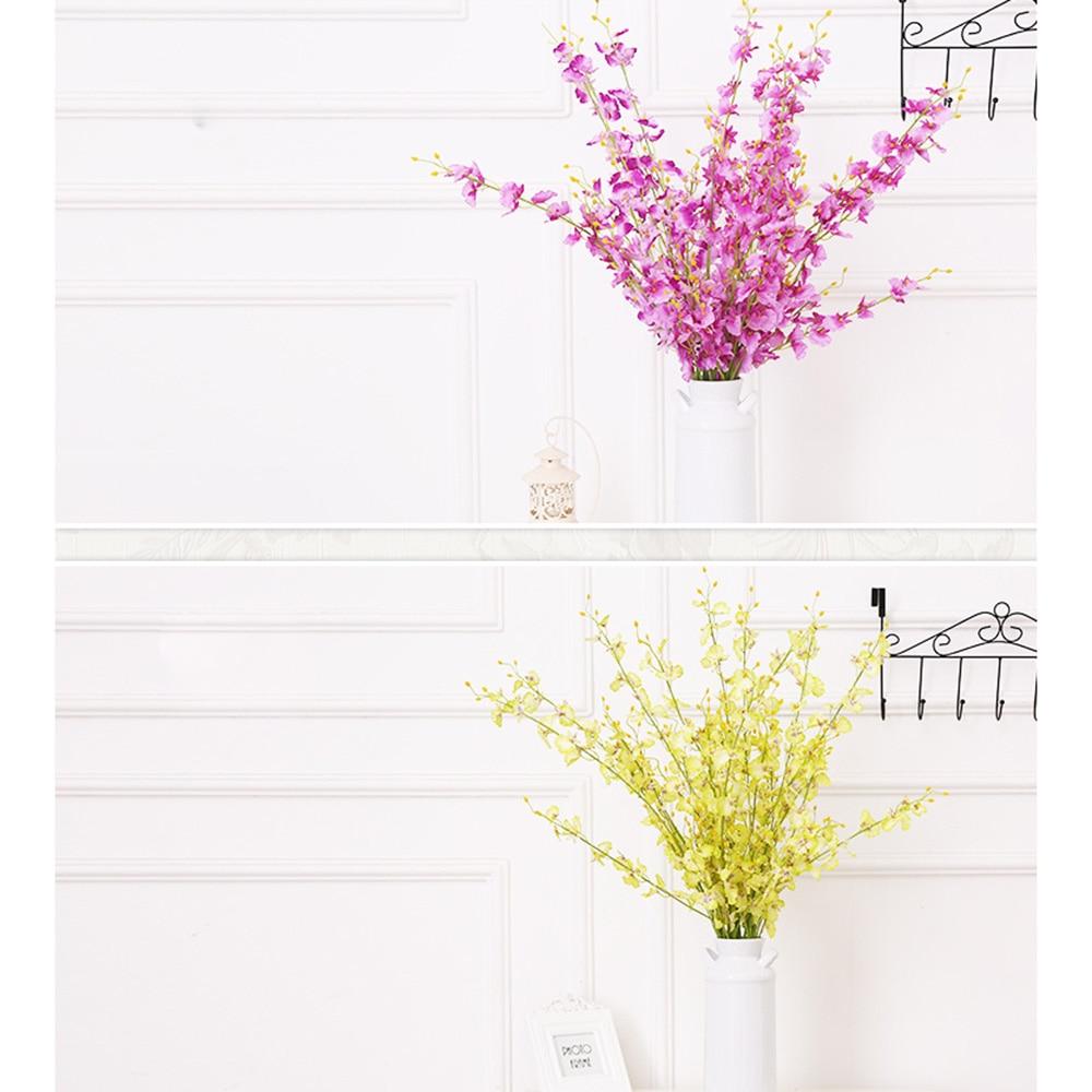 Yeni 5 Millet Yapay Buttterfly Orkide Çiçeği Şube Sahte Ipek - Tatiller ve Partiler Için - Fotoğraf 6