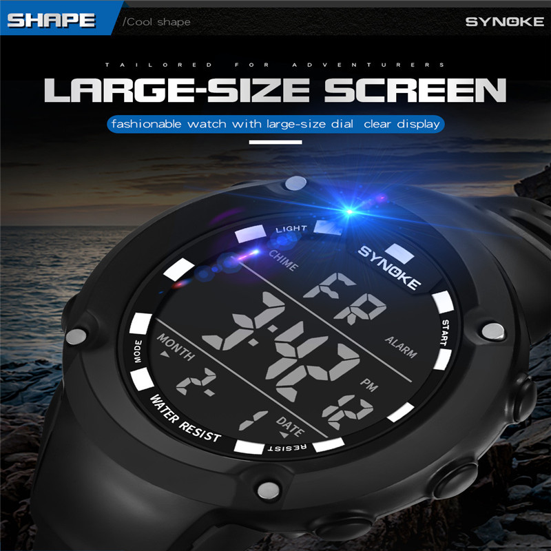 GEMIXI Men Watches Sports Multi Function Military Waterproof 50m Sports Watch LED Digital Dual Movement watch Rubber Wrist Watch все цены