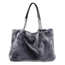 Plush Zipper Women Fashion Messenger Lady Hobo Handbag Shoulder Bag Plush Tote Purse Satchel Bags