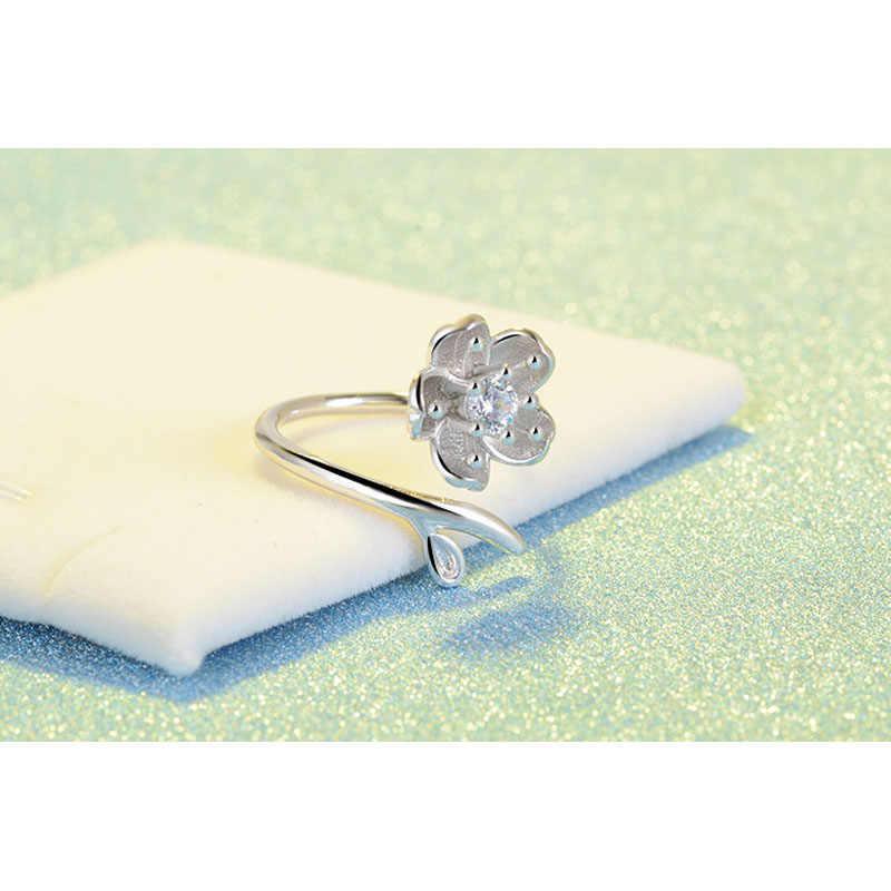 Big ส่วนลดคุณภาพสูงสีขาวทอง Daisy ดอกไม้แหวนปรับขนาดแหวนเครื่องประดับสำหรับสุภาพสตรีอุปกรณ์เสริม