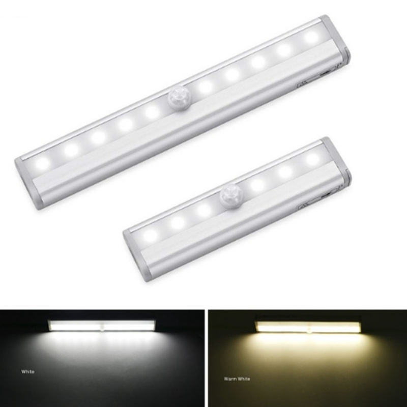LED Cabinet Light Universal Wardrobe Light PIR Motion Sensor Lamp bedroom Lamp For Cupboard Closet Kitchen night light