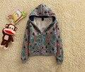 Bt-21, 6 unids/lote, diablo, los niños los hoodies outwear, camisetas de manga larga para 1-7y, lana de algodón
