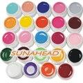 24 UNIDS Sólido Mix Pure Color UV Gel de construcción Acrílico Set de Uñas de Arte Consejos