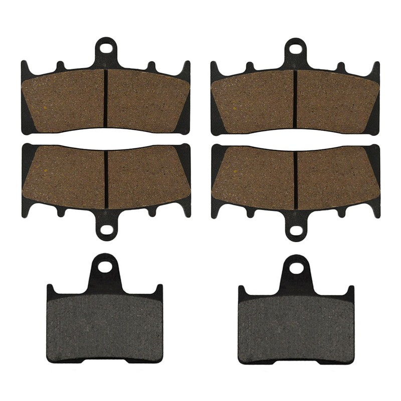 Motorcycle Front and Rear Brake Pads for SUZUKI GS 1200 GS1200 SSK1/ZK1 (GV78A) -2001 Black Brake Disc Pad  motorcycle front and rear brake pads for suzuki gsx 1400 gsx1400 k1 k2 k3 k4 k5 k6 k7 fe 2001 2007 black brake disc pad