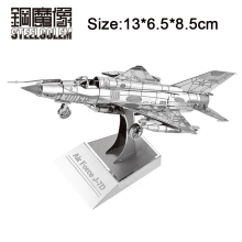 3D Metal Puzzles For Adult Child Kids Model Toys Jigsaw Air Force J 7D Plane Educational