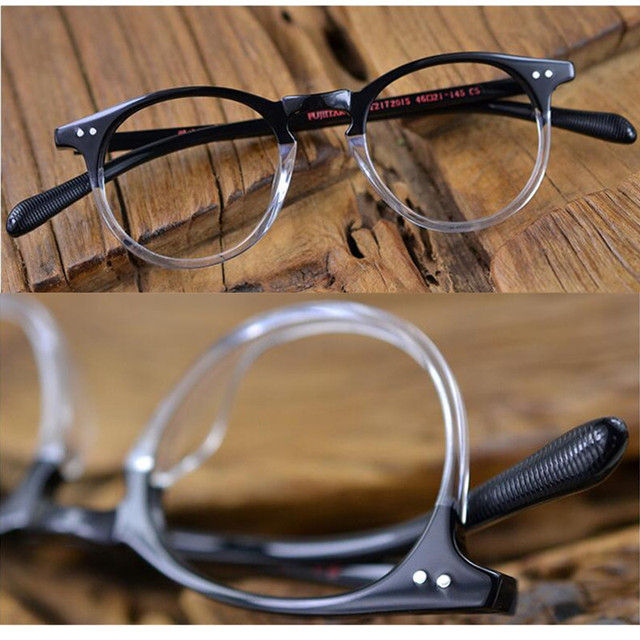 d3115f68ad78 Vintage Oval Round Transparent Black Reading Glasses men women Readers +100  +125 +150