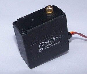 Image 3 - 1XOriginal nhà máy Robot servo 15kg RDS3115 Hộp số kim loại kỹ thuật số servo Arduino servo với Dài và Ngắn Thẳng U