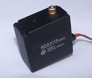 Image 3 - 1xoriginal fábrica robô servo 15kg rds3115 metal engrenagem digital servo arduino servo com longo e curto em linha reta u