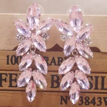 Zerong beauty Wedding Bridal popular earrings Earrings Women Rhinestone different colorful Statement  fashion Jewelry