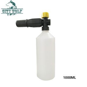 Image 1 - City wolf high pressure washer snow foam lance 1000 ML foam gun for all car washers G1/4 thread without adaptor