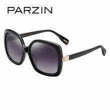 PARZIN 2017 New Brand Designer Women Spectacles Vintage Steampunk Big Frame Plastic Square Sun Glasses With Case 9661