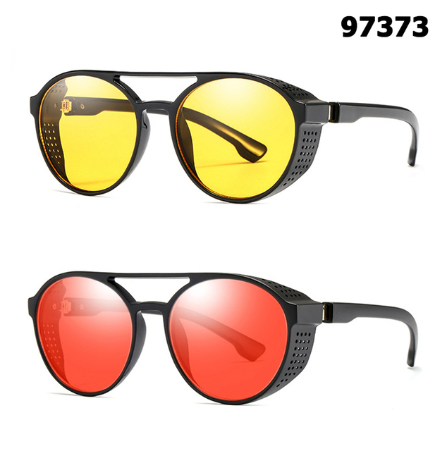 934afffd6ee JackJad 2018 Fashion Round Frame SteamPunk Style Side Mesh Sunglasses Men  Brand Design Vintage Sun Glasses