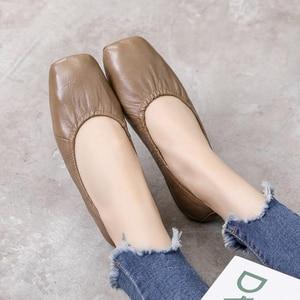 Image 5 - GKTINOO mocassins en cuir véritable pour femmes, chaussures de grande taille, chaussures dinfirmière plates, collection chaussures décontractées