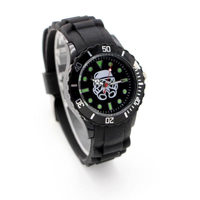 Star Wars silicone watch Quartz Kids Sports fashion cartoon Watch Wristwatch Boy