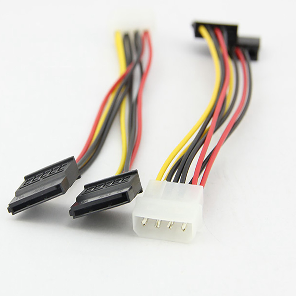 Mnycxen sata cable laptop New 4Pin IDE Molex to 2 Serial ATA SATA Y Splitter Hard Drive brand new Power Supply Cable 4 inch z90