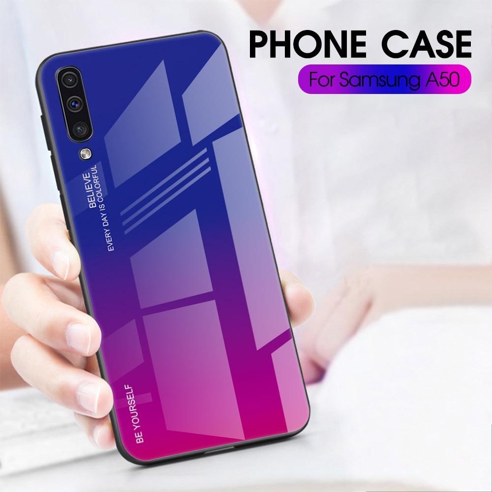 HTB1NkICdB1D3KVjSZFyq6zuFpXaA Gradient Glass Case For Samsung A30S A50S A30 A50 S A 30S 50S A 30 50 S Case Protective Shell A10 A20 A70 A50 A60 A40 A20e Case