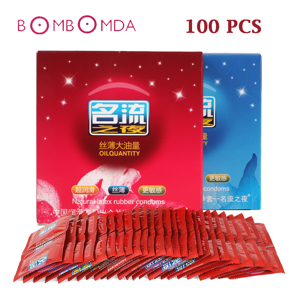 MingLiu 100Pcs Hot Sale Quality Sex Product <font><b>Natural</b></font> Latex Condoms For Men Adult Better Sex Toys Safer Contraception Penis Sleeve image