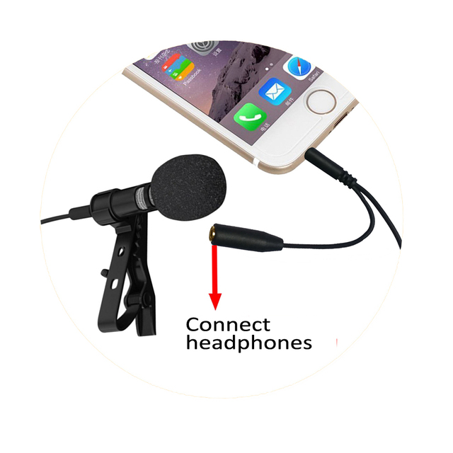 Portable Omnidirectional Lavalier Microphone for mobilephone voice recorder Sumsang meeting profession Smartphone Microphone