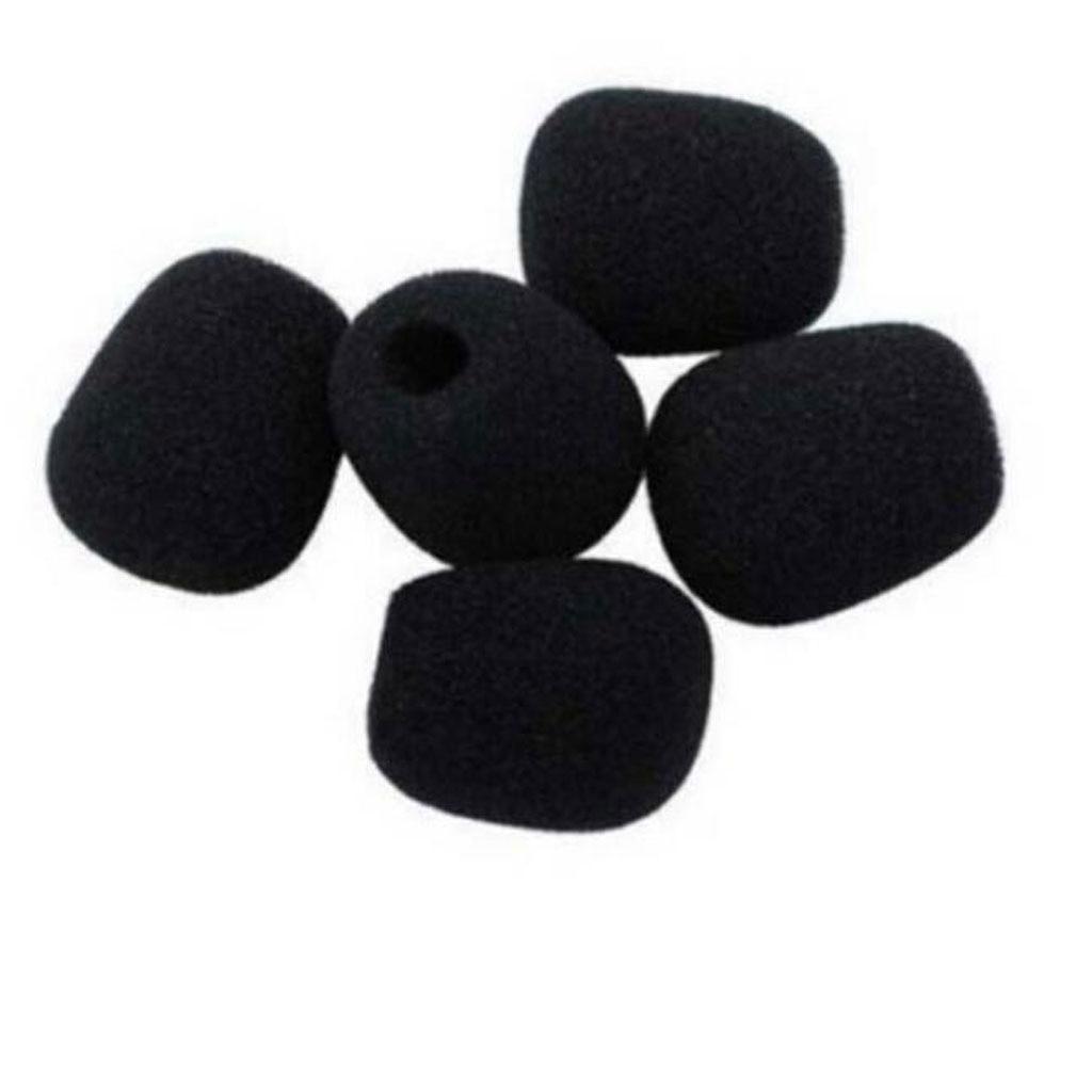 5pcs Microphone Headset Grill Windshield Sponge Foam Black Mic Cover Windscreens 45x12mm