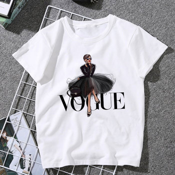 New Arrivals Fashion VOGUE Printed T shirt Women Harajuku Trend Style O-Neck T-Shirts Summer Short Sleeve Casual TShirt Tops