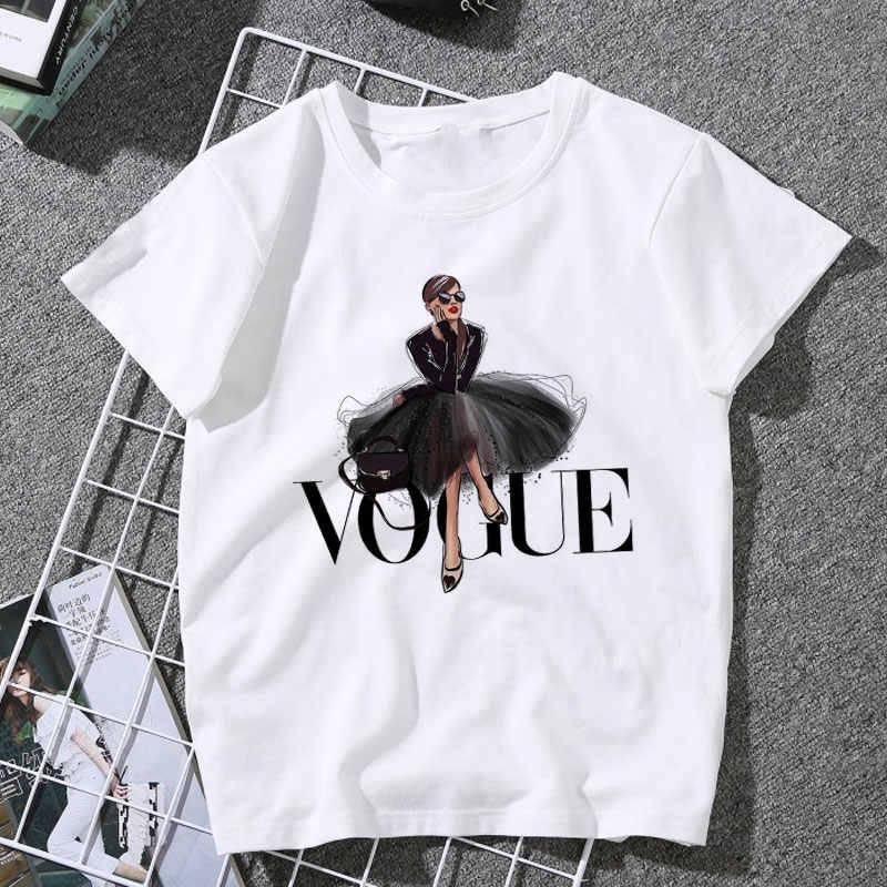 Nuovi Arrivi di Modo di MODA Stampato T Delle Donne della camicia di Tendenza Harajuku Style O-Collo T-Shirt di Estate Del Manicotto Del Bicchierino Casual TShirt Magliette e camicette