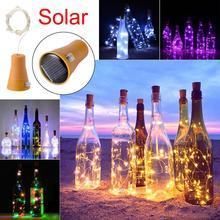 1 шт Солнечная 2 M светодиодный в форме пробки 20 светодиодный Ночная Фея свет шнура kork-коричневый Solarbetrieben Licht винная бутылка, лампа вечерние празднование