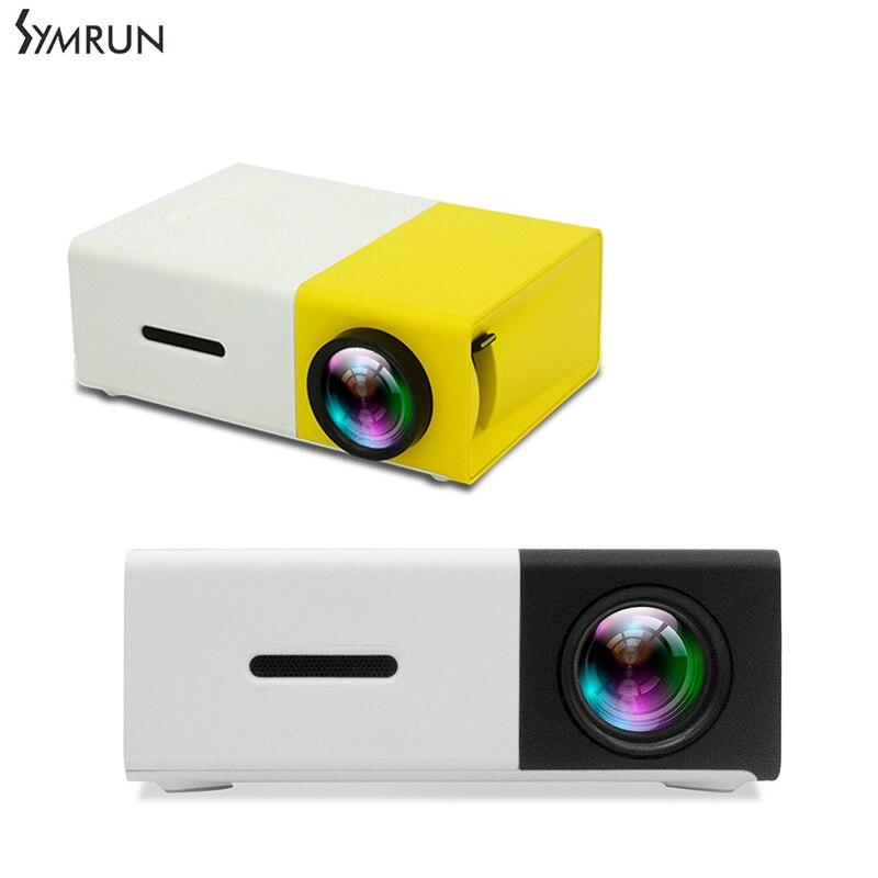 YG300 YG-300 LED Proyector Portátil 400 600LM de Audio 320x240 Píxeles YG-300 HD