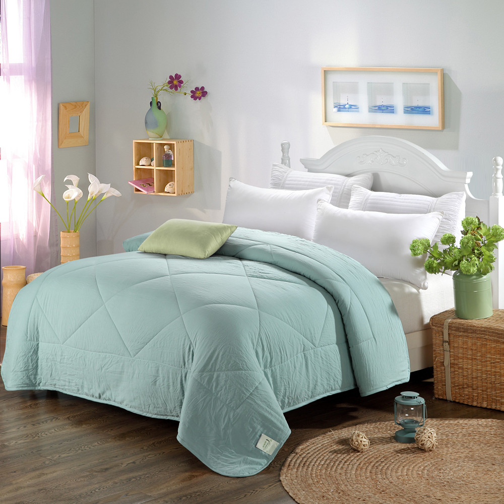 popular colorful comfortersbuy cheap colorful comforters lots  - sunnyrain piece solid color quilted comforter for spring and autumn adultquilt xcm xcm
