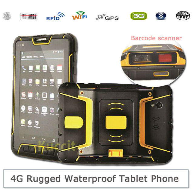China St907 Rugged Tablet Pc Android Waterproof 2d Barcode Scanner Pda 4g Lte Hf Uhf Rfid