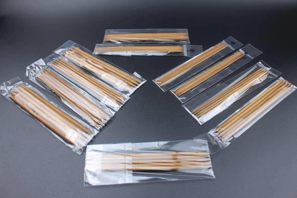 Image 5 - 11 Sizes 55pcs/Set 13cm Double Pointed Carbonized Bamboo Dark Patina Needles Knitting Knit Kit Domestic tool sets 2.0mm 5.0mm-in Sewing Tools & Accessory from Home & Garden